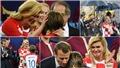 Tổng thống Croatia gây sốt với hình ảnh thân thiết Tổng thống Pháp, khóc khi lau nước mắt Modric