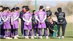 U23 Việt Nam mặc áo đỏ trong trận gặp U23 Đài Loan