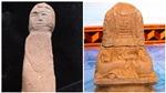 Kể chuyện lịch sử từ trong lòng đất (kỳ 13): Bí ẩn hình người quỳ trên hòn đá cuội phủ mộ thời Trần