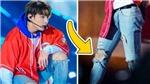 Jungkook BTS gây 'đốt mắt' khi để lộ đôi chân săn chắc trong những chiếc quần jean rách