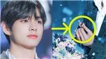 V BTS đã làm gì với chiếc bông tai nữ nhặt được trên sân khấu?