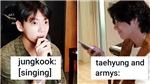BTS: Dù có mỉa mai nhưng V vẫn thể hiện là fan 'cuồng' của Jungkook