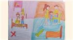 'Gia đình trong mắt em' truyền tải thông điệp ý nghĩa qua nét vẽ