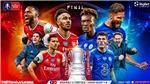 Link xem trực tiếp bóng đá. Arsenal vs Chelsea. Trực tiếp bóng đá cúp FA. FPT, SCTV