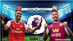 Trực tiếp bóng đá hôm nay: Arsenal đấu với Aston Villa. K+, K+PM trực tiếp Arsenal vs Aston Villa.