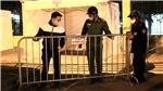 Công an phường Đồng Tâm xuyên đêm bảo vệ Trạm di động lấy mẫu xét nghiệm COVID-19
