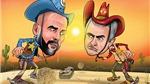 Biếm hoạ: Derby Manchester, khi Mourinho 'đấu súng' Guardiola