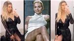 Vợ Icardi gây sốt với cảnh vắt chân nóng bỏng như Sharon Stone trong 'Bản năng gốc'