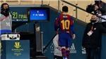 Messi bị đuổi vì đánh người thô bạo, nhận thẻ đỏ đầu tiên ở Barcelona