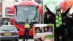 CĐV MU tiếp tục biểu tình, xịt lốp xe bus Liverpool