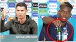 Học Ronaldo, Pogba bỏ chai Heineken khỏi bàn họp báo EURO