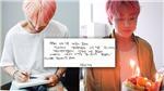 Khoảnh khắc đẹp vô cùng trong thư tay V BTS gửi Jungkook ngày sinh nhật