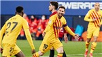 Osasuna 0-2 Barcelona: Messi lập cú đúp kiến tạo, Barcelona áp sát Atletico Madrid