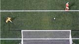 TRANH CÃI: Cú đá penalty của Ron Vlaar đã đưa bóng vào lưới?