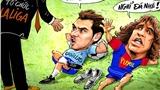 Biếm họa ngôi sao La Liga đình công