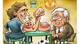 Biếm họa trận derby thành Manchester