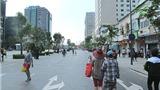 Phố Nguyễn Huệ sau giờ diễu hành