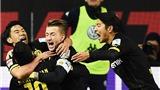 Wolfburg 1-2 Dortmund: Kịch tính phút bù giờ