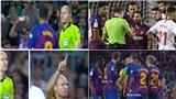 Vì sao Barca dính 2 thẻ đỏ cùng lúc ở cuối trận thắng Sevilla?