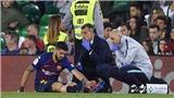Luis Suarez chấn thương, có nguy cơ lỡ đại chiến với MU