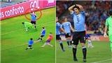 Chết cười với tình huống Luis Suarez đòi penalty vì bóng chạm tay... thủ môn