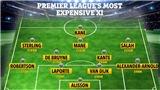 Liverpool áp đảo đội hình được định giá đắt nhất Premier League