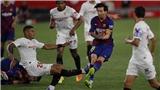 Barcelona: Messi dính đầy sẹo sau pha va chạm với cầu thủ Sevilla