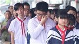 Khăn quàng đẫm nước mắt ngày tiễn đưa 8 em học sinh đuối nước thương tâm