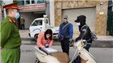 Hà Nội: Xử phạt hàng trăm trường hợp ra đường không đeo khẩu trang phòng dịch COVID-19