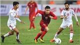 Kèo U23 Việt Nam vs U23 UAE. VCK U23 châu Á 2020. VTV6 trực tiếp