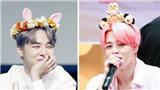 Trông Jimin BTS thật 'cute' khi đeo những chiếc bờm ngộ nghĩnh do fan làm tặng