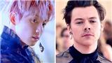 Thần thái 'một trời một vực' khi Jungkook BTS và Harry Styles cùng mặc váy xuyên thấu