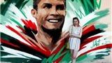 Bên lề World Cup: Bích họa chân dung Ronaldo ngoài sân Saransk
