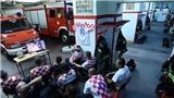 Lính cứu hỏa Croatia không xem quả đá 11m quan trọng vì đi làm nhiệm vụ