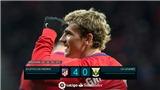 Atletico 4-0 Leganes: Antoine Griezmann lập poker, ghi bàn theo đủ mọi cách