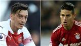 CHUYỂN NHƯỢNG 16/1: Arsenal thay Oezil bằng James Rodriguez. M.U thanh lý 'trò cưng' của Mourinho