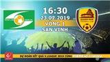 Xem trực tiếp bóng đá SLNA vs Quảng Nam (16h30, 23/2), vòng 1 V-League 2019. VTC3 trực tiếp