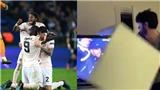 CĐV PSG đập bể tivi sau khi chứng kiến đội nhà bị MU loại