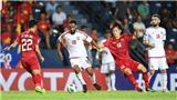 VTV6 trực tiếp bóng đá hôm nay: Bảng xếp hạng U23 châu Á 2020