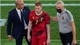 De Bruyne và Eden Hazard chấn thương, có thể vắng mặt trận tứ kết Ý vs Bỉ
