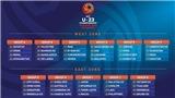 Lịch thi đấu vòng loại U23 châu Á. Trực tiếp bóng đá U23 Việt Nam. VTC3. VTC1. VTV5