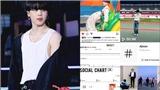 'Ông vua' mạng xã hội Jimin BTS tiếp tục lập kỳ tích