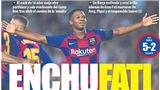 Barca: Sao trẻ 16 tuổi Ansu Fati được ca ngợi 'đến từ hành tinh khác'