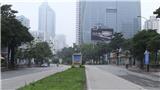 Chùm ảnh: Đường phố Hà Nội vắng vẻ khi thực hiện giãn cách xã hội