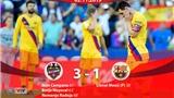 Levante 3-1 Barcelona: Messi ghi bàn, Barca vẫn thua ngược đầy cay đắng