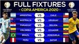 Bảng xếp hạng Copa America 2021 mới nhất