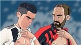 Biếm họa: Ronaldo '6 múi' cho Higuain bụng phệ hít khói