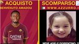 AS Roma giới thiệu tân binh cùng thông tin tìm trẻ lạc