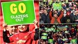 CĐV MU phản đối nhà Glazer trong ngày trở lại Old Trafford
