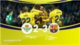 Real Betis 2-3 Barcelona: Messi lập hat-trick kiến tạo, Barca thắng kịch tính